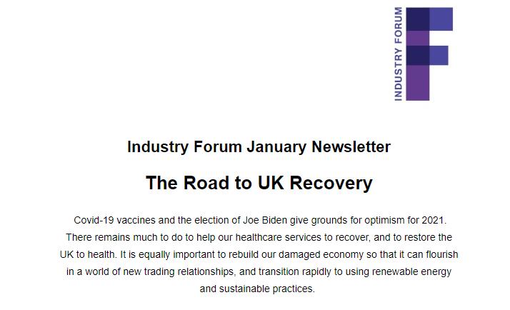 IndustryForumJanNewsletter